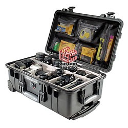 Pelican 1514 case with lid organizer